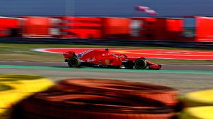 Carlos Sainz, en el test privado de Fiorano.