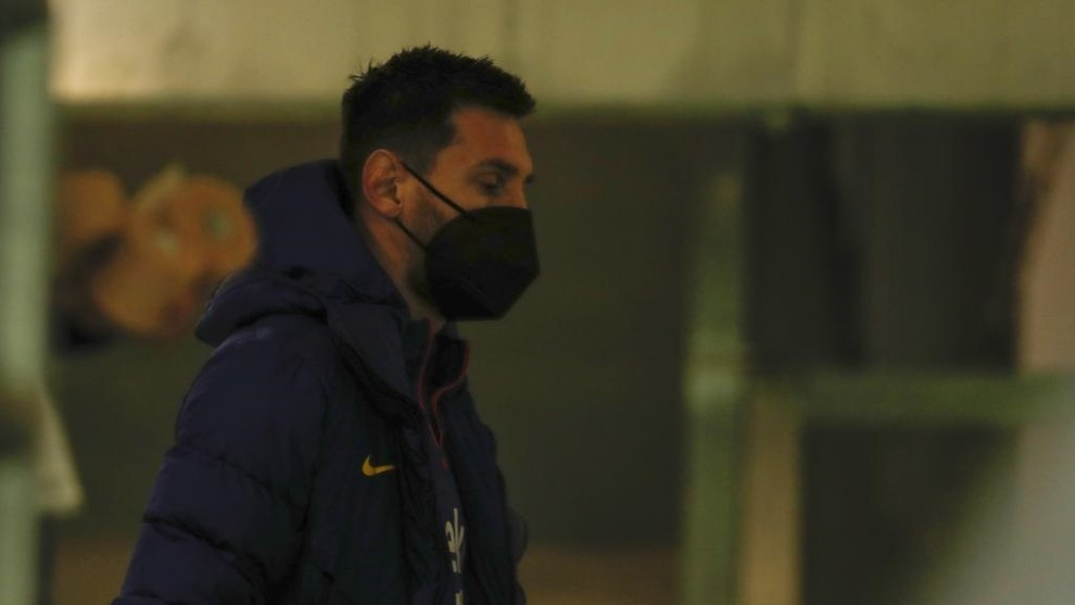 Messi ahead of the game against Real Betis.