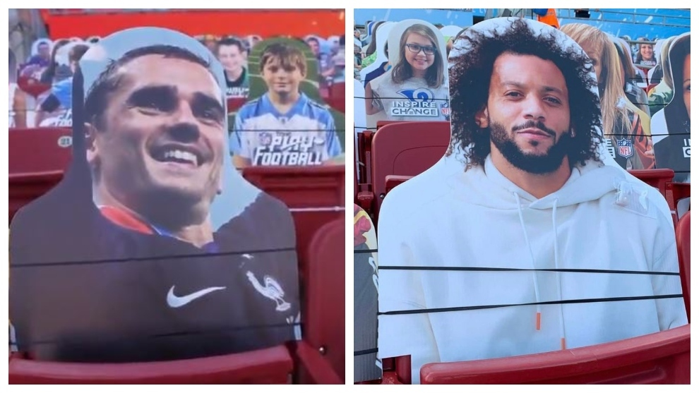 Marcelo and Griezmann appear in the Super Bowl