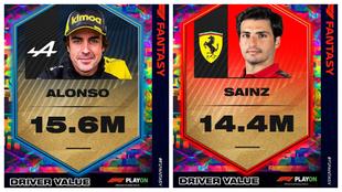 Las valoraciones de Alonso y Sainz para el Fantasy de la F1.
