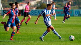 Nuria Mendoza, en el partido de la primera vuelta contra el Levante.