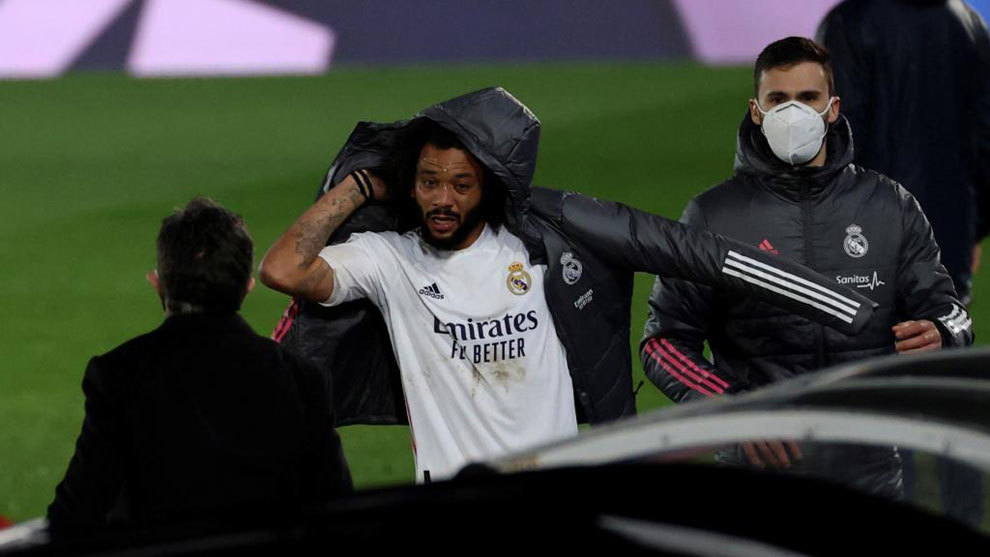 Marcelo shines before coming off with injury