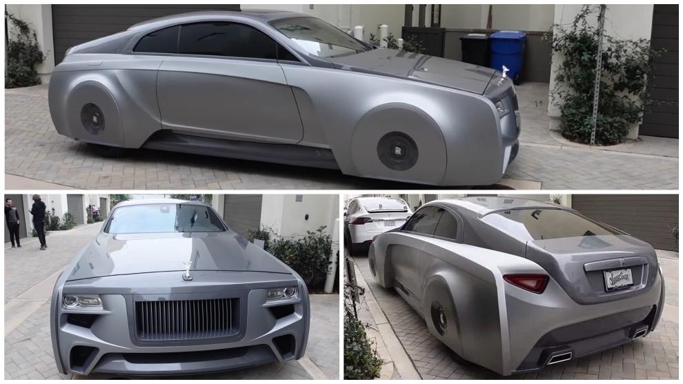 El Rolls-Royce Wraith ahora es un coche de aspecto futurista con las ruedas ocultas.