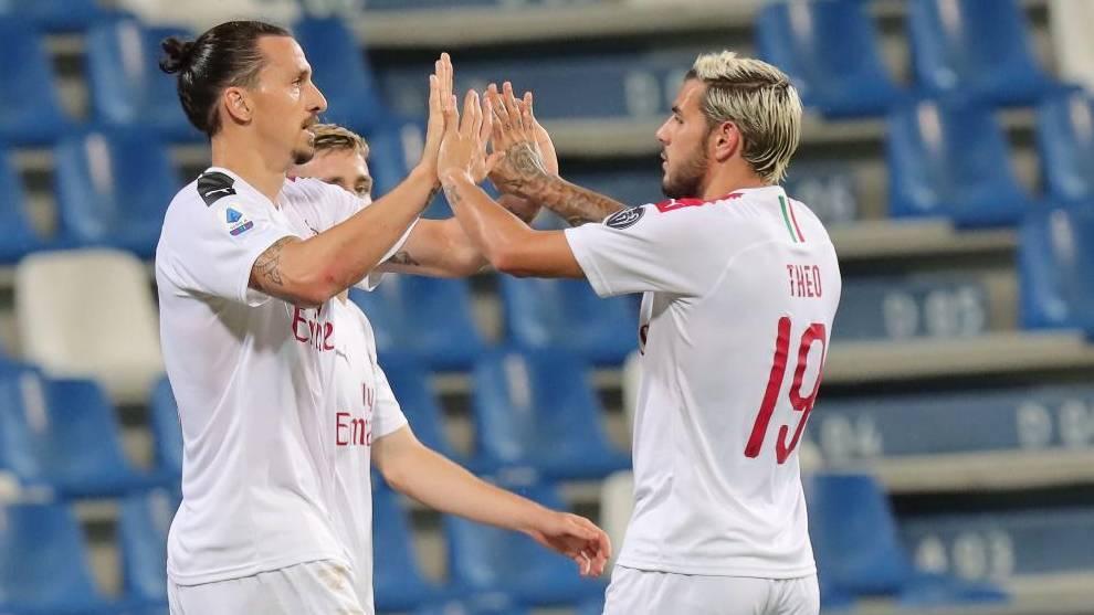 Zlatan Ibrahimovic and Theo Hernandez