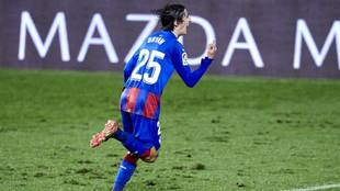 Bryan Gil celebra un gol ante el Granada