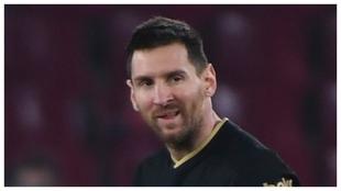 Messi, en el partido de Copa frente al Granada.