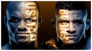 Imagen promocional del Usman vs Burns de UFC 258.