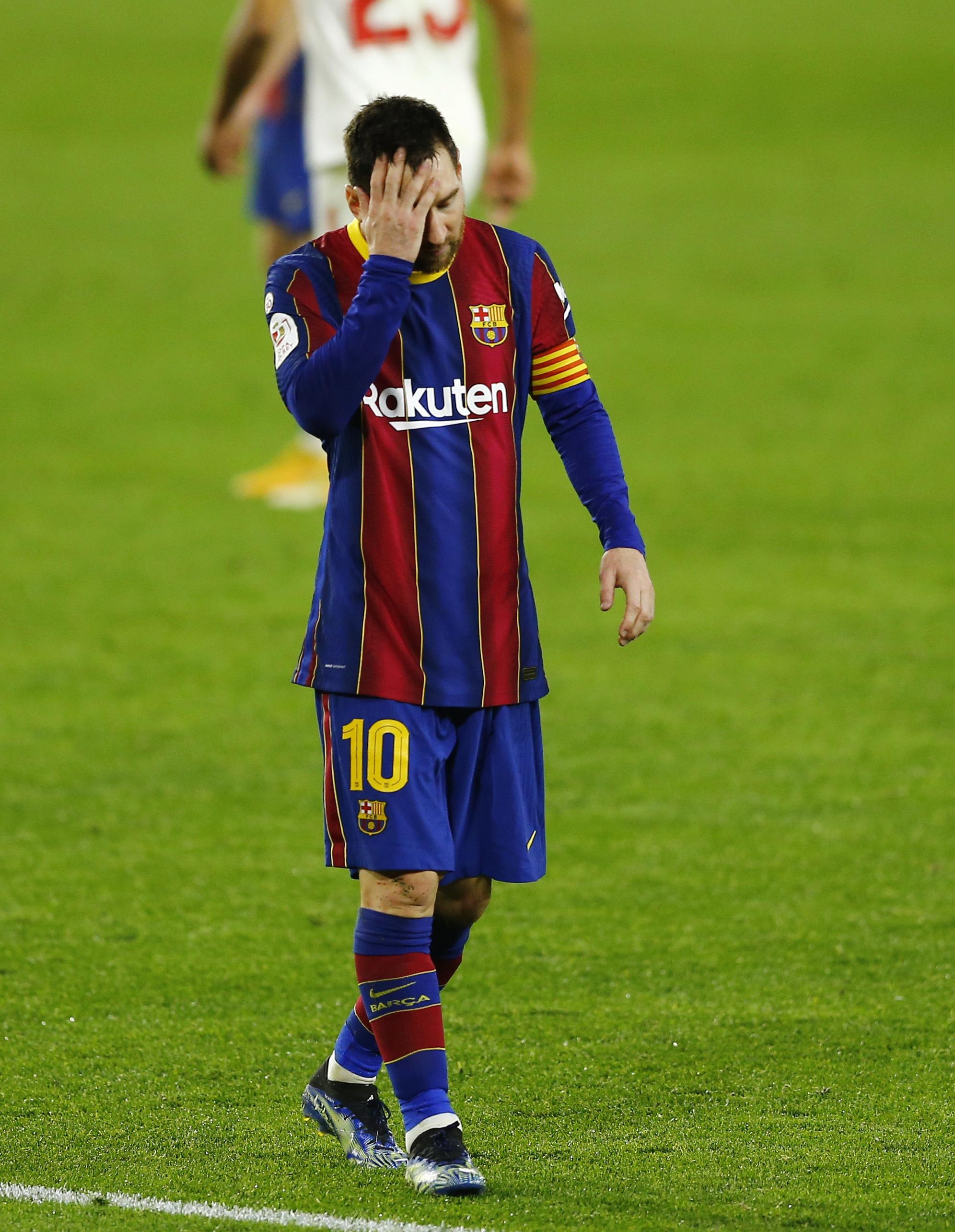 El Barcelona queda al borde de la eliminación en la Copa del Rey
