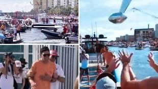 Brady se la juega al lanzar el trofeo de un barco a otro... ¡y paga los efectos del alcohol!
