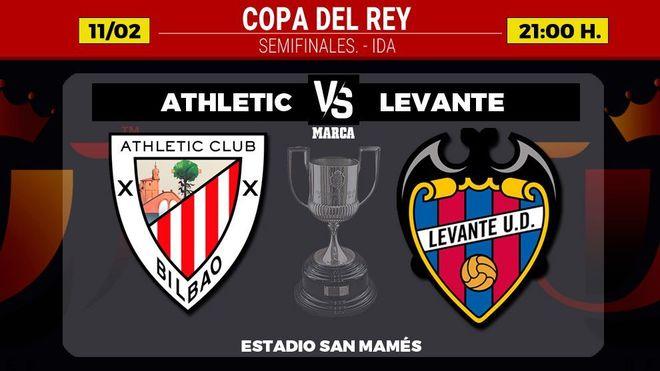 Athletic - Levante: Horario donde ver hoy canal de TV semifinales Copa...