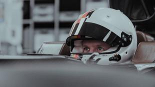 Sebastian Vettel, durante la jornada en la que se hizo su nuevo...