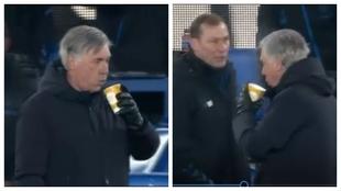 Cuando eres Ancelotti y ya has visto de todo: su equipo marca el 5-4 en la prórroga... y hace esto