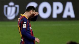 Messi, en el partido contra el Sevilla