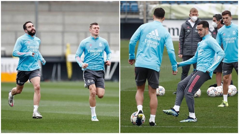 Lucas Vazquez and Carvajal return to training