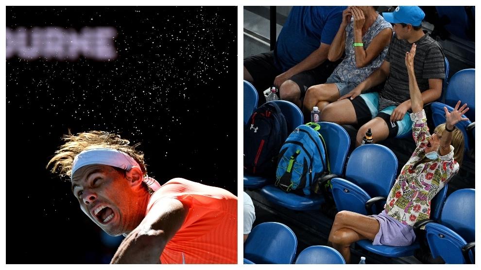 Nadal eases past Mmoh at Australian Open