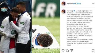 Neymar y su Instagram.