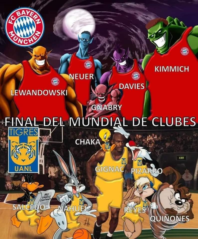 Bayern Munich 1-0 Tigres: Memes de la final del Mundial de Clubes 2020.