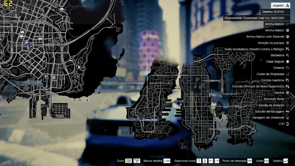El mapa de Liberty City, una ciudad de GTA que sido testigo de muchas entregas.