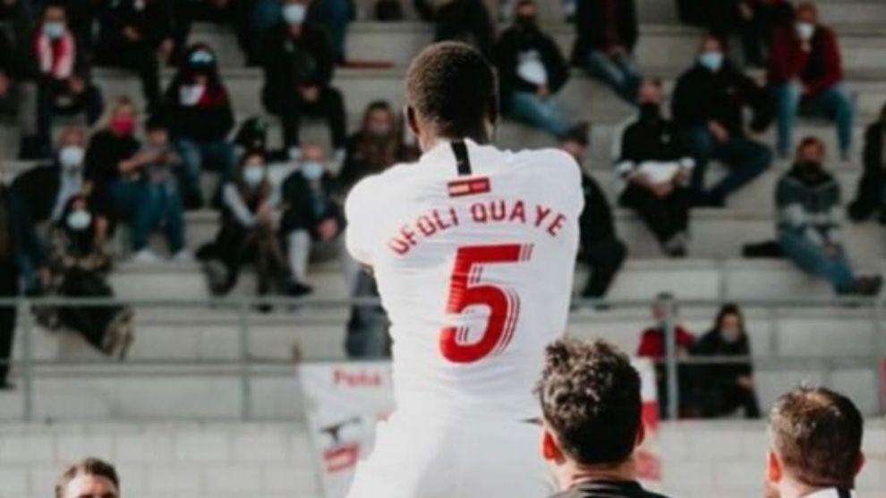 Ofoli Quaye se revela ya como... ¡el Van Dijk de Segunda división B!