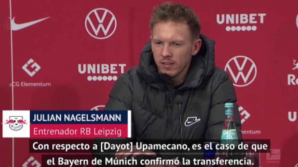 Nagelsmann's anger at Bayern Munich for announcing Upamecano signing