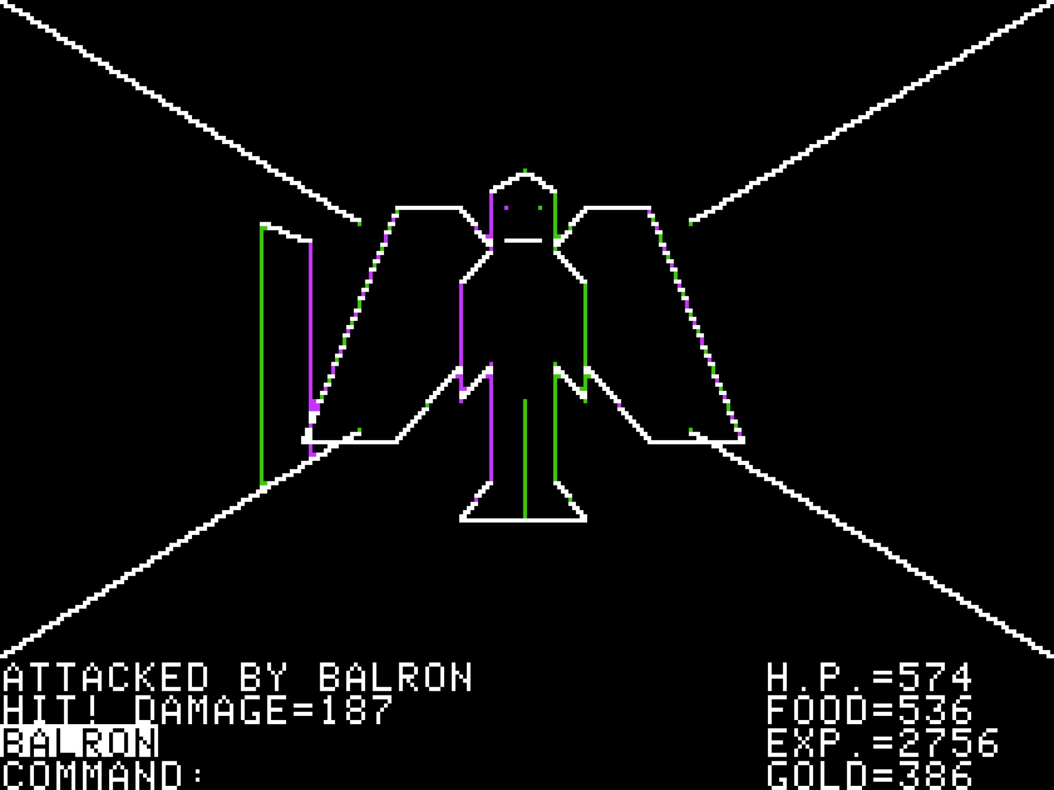 Esta era la perspectiva dentro del juego de Ultima... ni siquiera tenía música... malditamente genial.