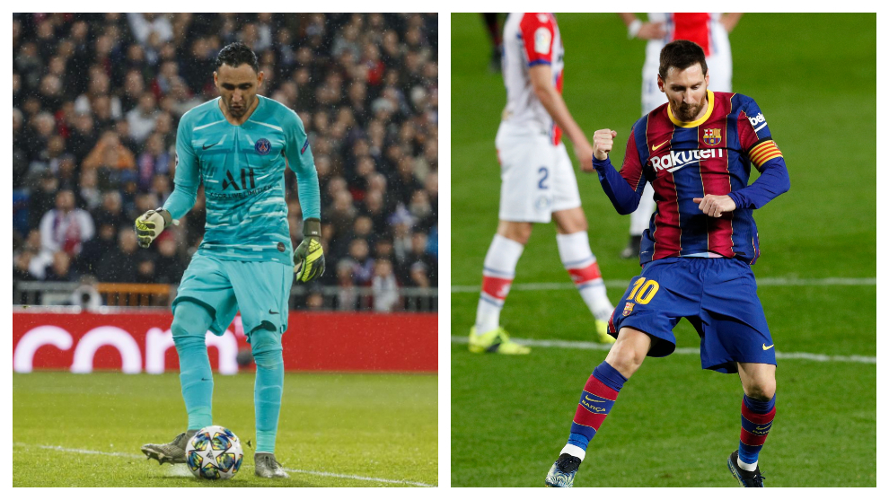 How has Keylor Navas fared in his previous meetings with Messi?