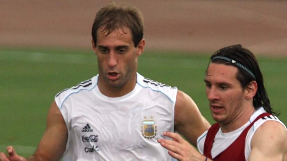 Zabaleta and Messi