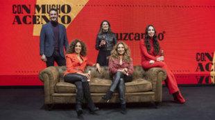 Lolita, Rosario, María José Llergo, Diego Losada y Marta García.