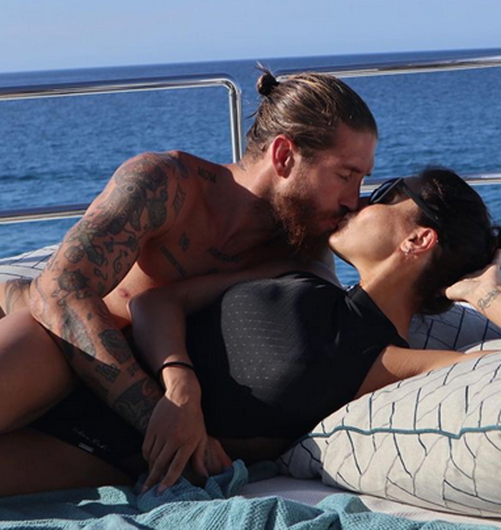 Sergio Ramos and Pilar Rubio