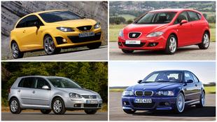 Los Seat Ibiza, Seat León, Volkswagen Golf y BMW Serie 3 son los...
