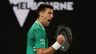 Djokovic no dio nunca señales de estar lesionado.