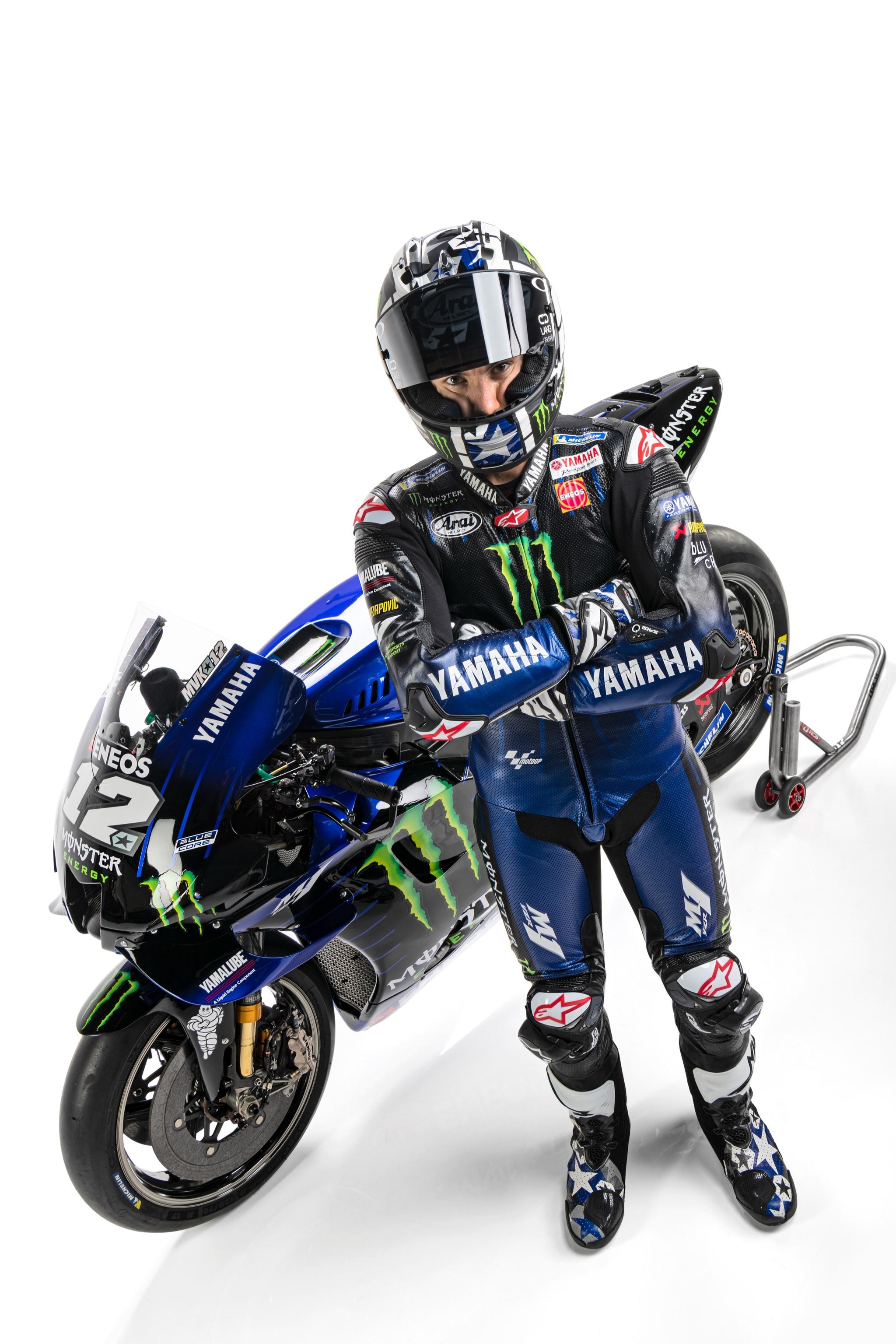 Viñales, en la presentación de la nueva Yamaha.