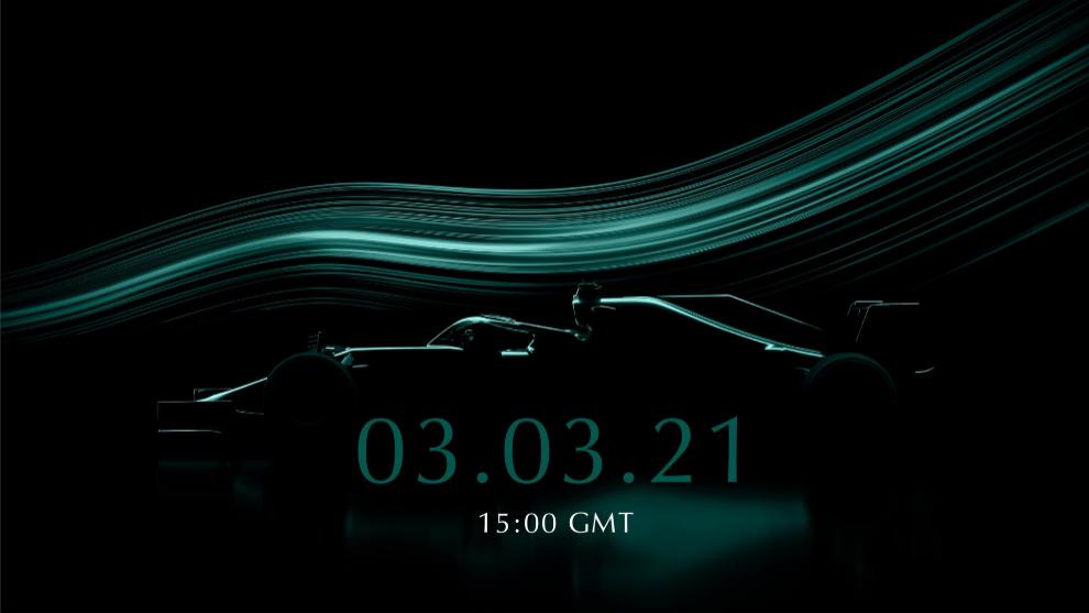 Aston Martin F1 confirma su presentación para el 3 de marzo