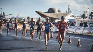 Imagen de un triatlón en Valencia.