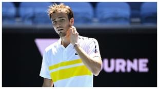 Medvedev, durante el último Open de Australia
