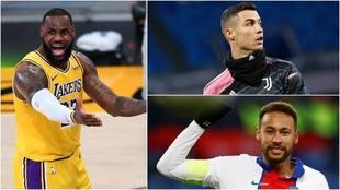 Los deportistas con más seguidores en sus redes sociales.