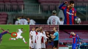 El gesto de rabia de Messi, el agarrón viral de Piqué...