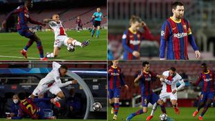 Dembélé, Griezmann, Messi, Dest y Busquets