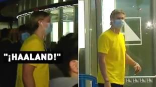 Así reacciona Haaland cuando le preguntan ¡7 veces! por el Madrid