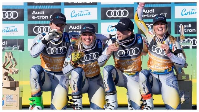 Noruega gana a Suecia en la prueba por equipos del Mundial