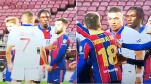 "Mbappe y Jordi Alba: ""Yo en la calle te mato"", ""Eres un agrandao""..."