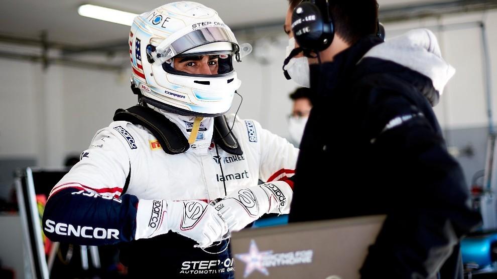 Correa, durante el test realizado en Paul Ricard
