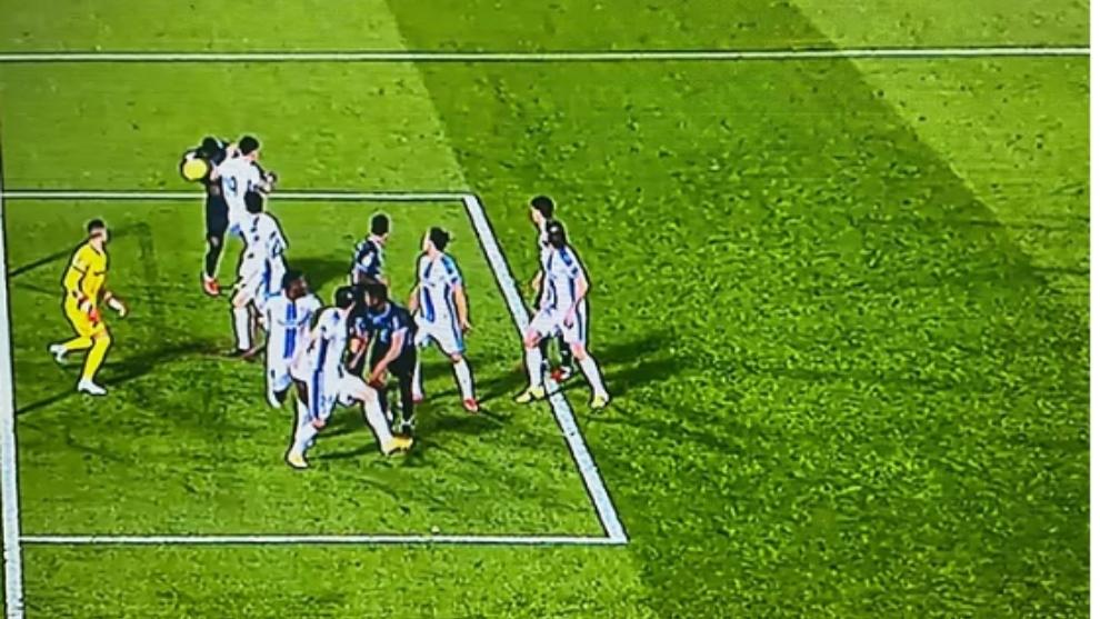 Lance del gol anulado a Sadiq