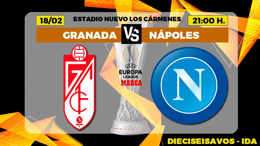 Granada - Napoles: horario y donde ver hoy en l TV el  partido Granada...