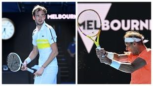 Medvedev y final, durante el Open de Australia