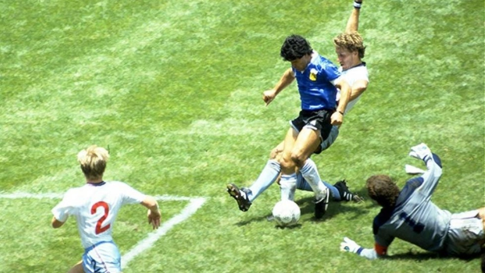Maradona's goal against England, like you've never seen before