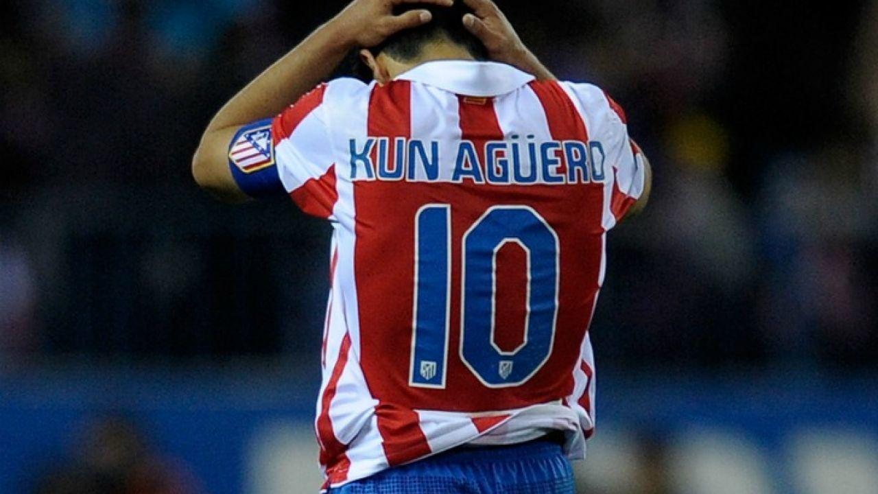 El Kun, durante su etapa en el Atlético