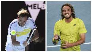 Medvedev vs Tsitsipas se enfrentan hoy en la semifinal del Abierto de...