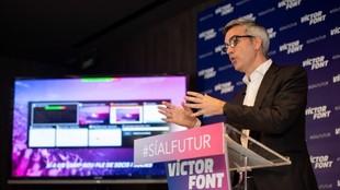 Victor Font, durante un acto.