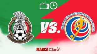 México vs Costa Rica: Horario y dónde ver en vivo.